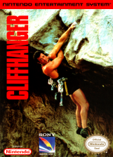 Cliffhanger Nintendo NES cover artwork