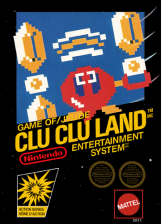Clu Clu Land Nintendo NES cover artwork