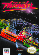 Days of Thunder Nintendo NES cover artwork