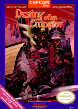 Destiny of an Emperor Nintendo NES cover artwork