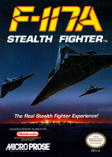 F-117A - Stealth Fighter Nintendo NES cover artwork