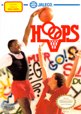 Hoops Nintendo NES cover artwork