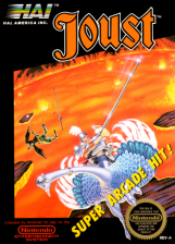 Joust Nintendo NES cover artwork
