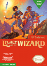 Legacy of the Wizard Nintendo NES cover artwork