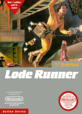 Lode Runner Nintendo NES cover artwork