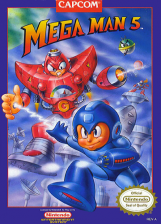 Mega Man 5 Nintendo NES cover artwork