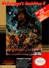 Nobunaga's Ambition II Nintendo NES cover artwork
