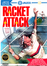 Racket Attack Nintendo NES cover artwork