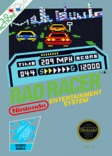 Rad Racer Nintendo NES cover artwork