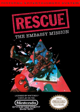 Rescue - The Embassy Mission Nintendo NES cover artwork