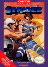 Strider Nintendo NES cover artwork