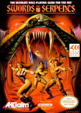 Swords and Serpents Nintendo NES cover artwork