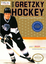 Wayne Gretzky Hockey Nintendo NES cover artwork