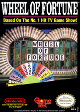 Wheel of Fortune Nintendo NES cover artwork