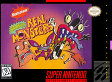 Aaahh!!! Real Monsters Nintendo Super NES cover artwork