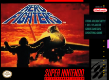 Aero Fighters Nintendo Super NES cover artwork