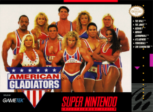 American Gladiators Nintendo Super NES cover artwork