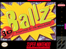 Ballz 3D Nintendo Super NES cover artwork