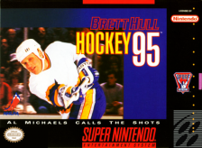 Brett Hull Hockey '95 Nintendo Super NES cover artwork