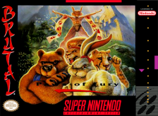Brutal - Paws of Fury Nintendo Super NES cover artwork