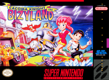Cacoma Knight in Bizyland Nintendo Super NES cover artwork