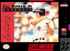 Cal Ripken Jr. Baseball Nintendo Super NES cover artwork