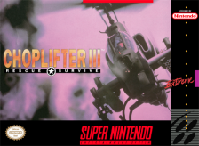 Choplifter III - Rescue Survive Nintendo Super NES cover artwork