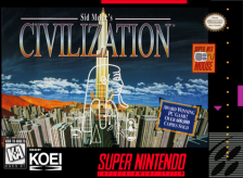Sid Meier's Civilization Nintendo Super NES cover artwork