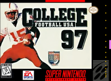 College Football USA '97 - The Road to New Orleans Nintendo Super NES cover artwork