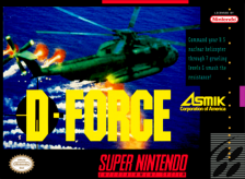D-Force Nintendo Super NES cover artwork