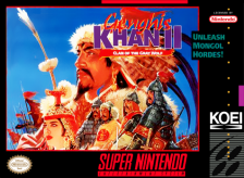 Genghis Khan II - Clan of the Gray Wolf Nintendo Super NES cover artwork