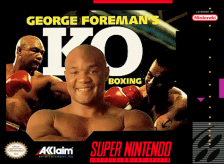 George Foreman's KO Boxing Nintendo Super NES cover artwork