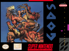 Gods Nintendo Super NES cover artwork