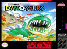 Hungry Dinosaurs Nintendo Super NES cover artwork