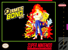 James Bond Jr. Nintendo Super NES cover artwork
