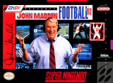 John Madden Football '93 Nintendo Super NES cover artwork