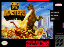 King of the Monsters Nintendo Super NES cover artwork