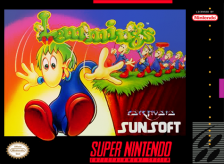 Lemmings Nintendo Super NES cover artwork