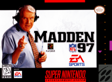Madden NFL 97 Nintendo Super NES cover artwork