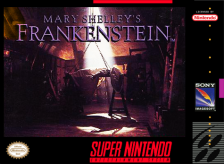 Mary Shelley's Frankenstein Nintendo Super NES cover artwork