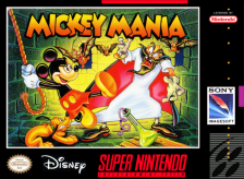 Mickey Mania - The Timeless Adventures of Mickey Mouse Nintendo Super NES cover artwork