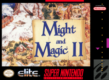 Might and Magic II - Gates to Another World Nintendo Super NES cover artwork