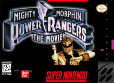 Mighty Morphin Power Rangers - The Movie Nintendo Super NES cover artwork