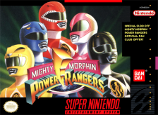 Mighty Morphin Power Rangers Nintendo Super NES cover artwork