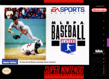 MLBPA Baseball Nintendo Super NES cover artwork