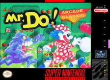 Mr. Do! Nintendo Super NES cover artwork