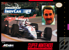 Newman Haas IndyCar featuring Nigel Mansell Nintendo Super NES cover artwork