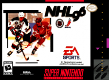 NHL '96 Nintendo Super NES cover artwork