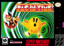 Pac-in-Time Nintendo Super NES cover artwork
