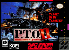P.T.O. II - Pacific Theater of Operations Nintendo Super NES cover artwork